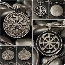 Halskette mit Sonnenrad Kolovrat Amulett Anhänger Slawisch Celtic Mythologie