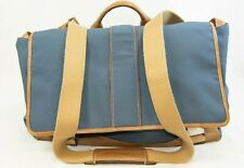 COACH 5738 Blue and Tan Leather Messenger Bag/Briefcase (MYW)