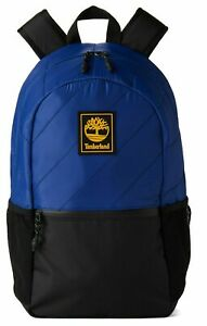 TIMBERLAND CLASSIC ONE SIZE OS SCHOOL BACKPACK BLACK BLUE Laptop ZIP TOP NEW $60