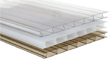 Discounted Polycarbonate Sheets - 10mm Twinwall - Clear -Width 700- Length-1500