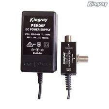 Kingray 240V AC To 14V DC 150MA Power Supply 75 OHM F-Type Injector