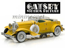 GREENLIGHT 12927 THE GREAT GATSBY 2013 1934 DUESENBERG II SJ 1/18 DIECAST YELLOW