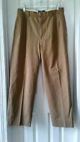Polo Ralph Lauren Hammond Pleated Chino Khaki Pants Brown Tan Sz 32W×29L
