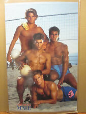 Vintage American Male Volleyball poster hot guy 1988 11645