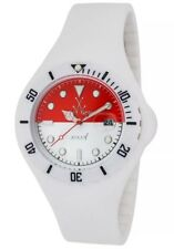 ToyWatch Unisex Indonesian Flag Dial White Rubber Strap Quartz Watch JYF14IN