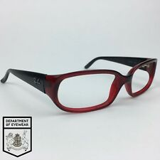 RAY BAN eyeglass RED+BLACK RECTANGLE frame Authentic.MOD: RB 4055