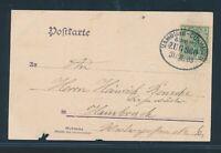 33284) Bahnpost Ovalstempel Hamburg - Cuxhaven ZUG 360, Karte 1903