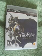 PLAY STATION NETWORK PS3 WHITE KNIGHT CHRONICLES INTERNATIONAL EDITION GAME NEW