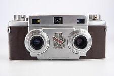Revere Stereo 33 35mm Film Camera w Wollensak Amaton 35mm Lens WORKING V11