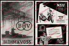 orig Reklame Blohm & Voss Luftfahrt Marine Helgengerüst Hamburg Steinwerder 1939