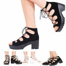Block Lace-up Synthetic Leather Formal Shoes for Women