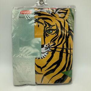 Rubbermaid Vinyl Shower Curtain Animal Kingdom Tiger Elephant Lion Zebra Jungle