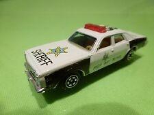 YATMING DODGE MONACO - POLICE HIGHWAY PATROL SHERIFF - WHITE + BLACK 1:64? -