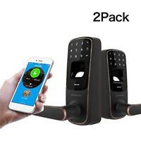 2 PACK Ultraloq UL3 BT Bluetooth Enabled Fingerprint and Touchscreen Smart Lock