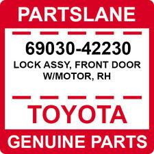 69030-42230 Toyota OEM Genuine LOCK ASSY, FRONT DOOR W/MOTOR, RH