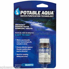 50 Potable Aqua Emergency Military Water Iodine Purification Pills Tablets