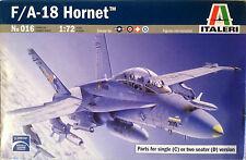 MDD F/A-18 C/D Hornet 016 Italeri Single&Two Seater 1:72 TWO MODEL KITS IN BOX!!