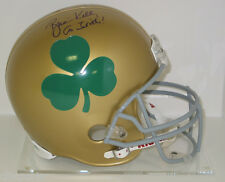 BRIAN KELLY signed Notre Dame FULL SIZE Helmet with SHAMROCK auto Go Irish!