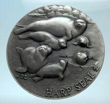 LONGINES Sterling Silver Medal Endangered Species HARP SEAL RHINO GOAT i78236