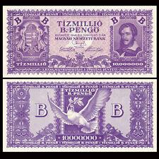 Hungria Hungary 10000000 10,000,000 B.-Pengo, 1946, P-135, A-UNC