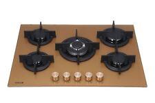 Millar BRUCIATORE GH7051PG 5 Oro/Rame built-in piano cottura a gas su vetro 70cm