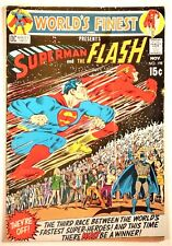 """World's Finest Comics #198 (DC 1970) FN """"Race to Save the Universe!"""""""