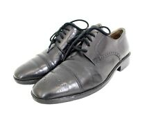 Bally Black Leather Oxford Brogue Lace Up Palor Italian Shoes 8 41