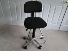 Secretary Computer Drafting Office Chair Wheels Ergonomic Adjustable Back&Height