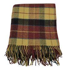 Foxford 100% Lambs Wool Plaid Throw Blanket
