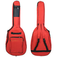 Red 41'' Oxford Padded Guitar Gig Bag Case Double Straps Backpack