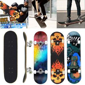 """31"""" Skateboard Adult & Kids Skateboard,Beginners Double Kick Maple Fun UK"""
