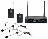 Vocopro Digital-2B 90 Ch UHF Dual Wireless Headset Microphone System/Rechargeabl