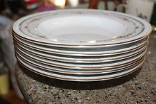 WHITE SCAPES NORITAKE GREENBURY RIMMED BOWLS~LOT OF 6~NICE SHAPE