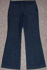 EXPRESS Blue Dark Rinse Denim Low Waist Wide Leg Trouser Jeans 2 Short or Petite