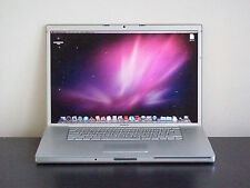 "☛APPLE 17"" MACBOOK PRO ALUMINUM COMPUTER WIDESCREEN MAC LION TESTED SILVER PUTER"