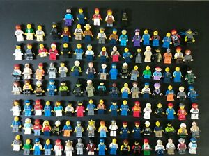 Lot of 120 Lego Minifigures Lot of Harry Potter Speed Champions DC Marvel Clean