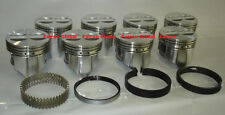 """Chevy 327 Sealed Power/Speed Pro Cast Flat Top Pistons+MOLY Rings Set/Kit +.030"""""""