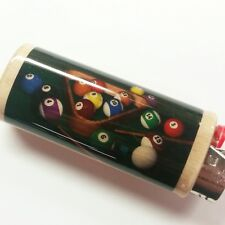Billiards Lighter Case Holder Sleeve Cover Pool Table Cue Stick Fits Bic