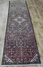 Antique Persian Hamedan handmade runner 10 x 2'4 ft very hard wearing runner rug