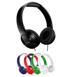 Pioneer SE-MJ503 Lightweight Compact Folding Pure Sound On-Ear Wired Headphones