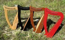 Irisch Keltische Kinder Harfe Harp 12 Saiten Buche hell, Mahagoni, rot, schwarz