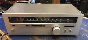 Vintage 1980 Sansui T-60L AM FM Stereo Analogue Tuner Silver Japan