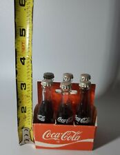 "Vintage Coca Cola Mini Bottles Miniature 6- 3""Bottles in Original Paper Carton"