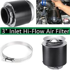 "3"" Inlet Filter Carbon Fiber Style Cold Air/Short Ram Intake Hi-Flow Air Filter"
