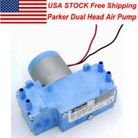 USA Stock- Parker DC12V Dual Head Brushless Motor Air Pump Vacuum Diaphragm Pump
