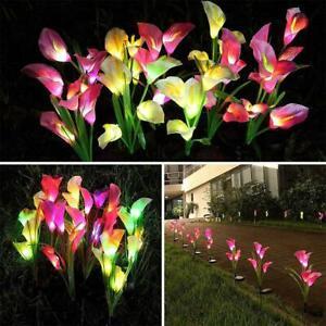 Lawn Light Solar Flowers Landscape Light Calla Lily LED Lights Waterproof