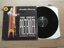 "FREDDIE MERCURY-THE GREAT PRETENDER-GREAT AUDIO-12"" 3 TRACK VINYL SINGLE-EX-1987"
