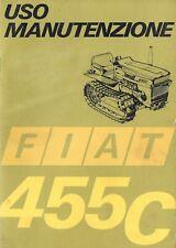 LIBRETTO MANUALE USO E MANUTENZIONE FIAT 455C CINGOLI