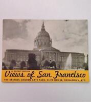Vtg 1930's Viewbook Pocket Edition Views of San Francisco with Burbank Drawing