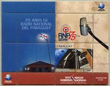 Paraguay 2017 Nationale Radio-Station Flagge Block Postfrisch MNH
